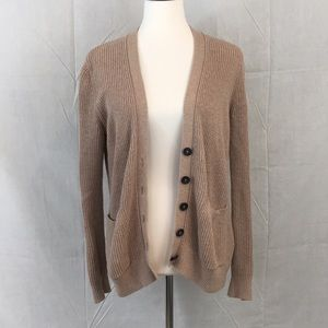 A&F Classic Button Front Brown Cardigan Size S